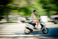ODC - Getting There (lclower19) Tags: speed panning odc scooter motor vehicle woman blur gettingthere
