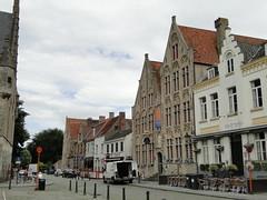 Houses on the Damme square (Joop van Meer) Tags: damme 2016 townhallsquare flanderscoastpath