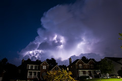 Summer storm (Sharkshock) Tags: homes summer sky cloud house storm night forest nc long exposure wake nimbus north cell raleigh carolina wakefield strike lightning cumulous strato