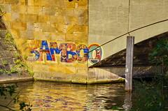 Berlin 2015 - 258 Landwehrkanal, Kottbusser Brcke (paspog) Tags: berlin landwehrkanal allemagne deutschland germany kottbusserbrcke tags graffitis fresque fresques mural murals