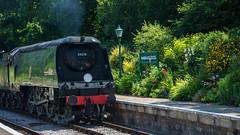 Harmans Cross Station 47 (Matt_Rayner) Tags: swanage railway 34070 manston sr battle of britain class steam train