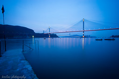 untitled (~kenlwc) Tags: blue magichour sea water longexposure hongkong bridge landscape kenlwc kenleung beautiful world minoltalens minoltaaf1735mmf35