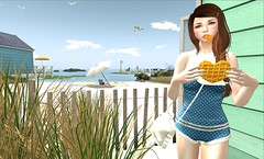 4h  la plage (Kaithleen's) (Anabigail) Tags: oleander yummy suecream cestlavie kaithleens thechapterfour event sl blogger