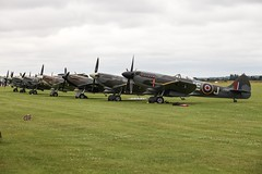 Spits in a row (Steve Dawson.) Tags: supermarine spitfire british fighter wwii warbirds flyinglegends airshow iwm duxford planes props england uk canoneos5dmarkii canon eos 5d mkii canonef70200mmf4lusm ef70200mm f4l usm 10th july 2016