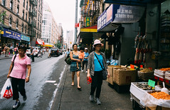 Shopping in Chinatown #5 (absolutman) Tags: chinatown market color shopping strolling newyorkcity walking ladies streetphotography driedshrimp scale groceries sonya6000
