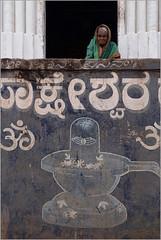 lingum, badami (nevil zaveri (thank you for 10 million+ views :)) Tags: zaveri india badami street home shrine temple woman women karnataka photography photographer images photos blog stockimages photograph photographs nevil nevilzaveri stock photo shiva shivling shivalingumpeople wall painting paint om