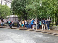 Waiting for the coach outside St. Patrick's (BBuzz1) Tags: wshsfrench wshseurotrip westsalemhighschool westsalemhighschoolfrench dublin saintpatrickscathedral