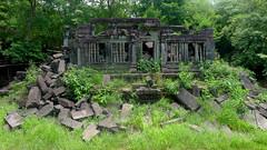 Beng Mealea Temple Ruins (Cagsawa) Tags: bengmealea temple ruins siemreap cambodia hindu jungle forest bungmealea angkor wat angkorwat sandstone buddhism buddhist ruble wreck debris tombraider destruction ancient primeval plant tree lx5