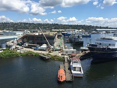 Seattle Maritime Academy Green Roof Installation July 2016 (LiveRoof) Tags: sustainability greenroof livingroof liveroof seattlemaritimeacademy seattlecentralcollege