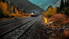 Eastbound & Heading Down. (-Metal-M1KE-) Tags: amtrak moffat frontrange amtrak131 p42dc ge generalelectric colorado fall fallcolours autumn autumnal