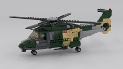 LTH-3C - Light Transport Helicopter Render (Quogg) Tags: helicopter lego heli transport chopper
