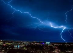 Lightning (mwjw) Tags: longexposure storm weather orlando nightshot florida disney disneyworld lightning nikon24120mm markwalter nikond800 mwjw disneysprings