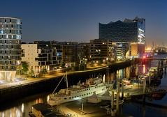 Sandtorhafen at night (michaelbeyer_hh) Tags: hamburg hafen sandtorhafen night penf