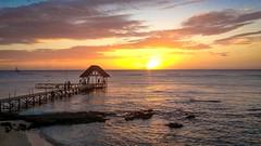 Mauritius Sunset (Rich Walker75) Tags: sunset sea pier coast landscape landscapes sky colour color colours colors mauritius travel