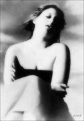 Daydream in the sunset (sophie.lamidiaux) Tags: portrait noir et blanc flou visage surex sensuel autoportrait rverie