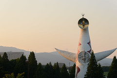 2Tower of the Sun (anglo10) Tags:   japan   architecture  sunset