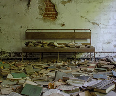 North Brother Island Library (FWDPhotography) Tags: abandoned decay derelict urbex urbanexploration urbandecay nikon photographer photo photography d5100 hospital isolation nyc island books library explore