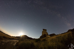 Aurora lunar - Aurore lunaire - Dawn of the Moon (Masjota65 (J.Miguel) +400.000 vistas, gracias) Tags: nocturnas nocturne night nuit noche estrellas toiles stars valactea voielacte milkyway monegros espaa espagne spain aragn aurora aurore dawn luna lune moon