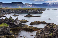 A giant's stepping stones. (lawrencecornell25) Tags: landscape waterscape iceland coast geology scenery outdoors nature snaefellsnesspeninsular hellnar anarstapi nikond5