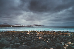 La Santa landscape (Tim Bow Photography) Tags: timbowphotography travel holiday spain lanzarote canaryislands lava rock dark light timboss81 world visit adventure discover lasanta lasantapoint landscape lanzarotelandscape ominous brooding darkskies bluewater atlanticocean colour darkandlightlandscape volcano volcanic