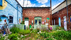 Behind the store fronts Explored! (hz536n/George Thomas) Tags: rose city back lot 2016 cs5 canon canon5d ef24105mmf4lisusm hdr july michigan summer art copyright hidden nik upnorth library rosecity backlot explore explored