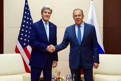 Secretary Kerry Shakes Hands With Russian Foreign Minister Lavrov (U.S. Department of State) Tags: johnkerry sergey lavrov vientiane laos russia asean