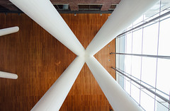 X (dtstuff9) Tags: building modern delta frames toronto ontario canada queen richmond centre west architecture lobby foyer interior ceiling x
