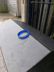Blue Wristband - Brighton_Sussex_UK (tc_of_brighton) Tags: blue wristband lost brighton sussex
