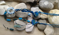 (katerina66) Tags: necklace cord polymerclay fauxceramic ceramic handmade jewellery oneofakind κολιέ πολυμερικόσάργιλοσ κορδονια χειροποίητο κοσμήματα