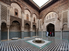 Al Attarine Madrasa, Fes Medina, Morocco (Abhi_arch2001) Tags: al attarine madarsa madersa madrasa school old courtyard court arch architecture ornate ornamental pattern islamic mosaic arcade fes fez morocco moroccan maroc medina guide tour bowl learning