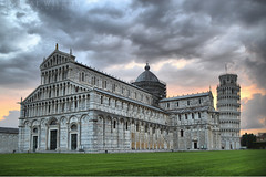 Pisa (Neal J.Wilson) Tags: pisa tower cathedral tuscany italy europe piazza dei miracoli del duomo square miracles catholic church buildings famous sightseeing tourism clouds nikon d3200