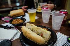 Sausage hoagie - Free dinner at the Residence Inn hotel (m01229) Tags: unitedstates southcarolina charleston 2014 d7000 december2014