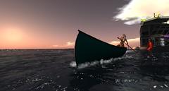 Burt's Canoe is ready:) (ZZ Bottom) Tags: sailing sailors secondlife topless secondlife:z=21 secondlife:x=215 secondlife:y=3 secondlife:parcel=direstrait secondlife:region=tashtego