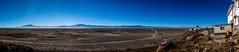 Uyuni desert Panorama (Hugo Chinaglia) Tags: road trip blue sky sol yellow azul sunrise hotel sand nikon desert areia salt cu flats amarelo estrada vegetation viagem moutain salar montanha deserto bolvia nascer vegetao uyuni d90 18105mm lunasalada