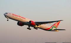 Kenya Airways Boeing 777-300 (AMSfreak17) Tags: holland netherlands amsterdam airport kenya nederland off take boeing airways 27 schiphol runway ams the eham 777300 buitenveldertbaan amsfreak17 5ykzy