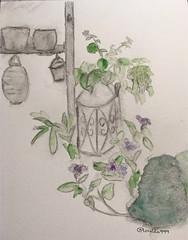 Garten (loulila71) Tags: moleskine watercolor paper sketch with sommer made watercolour garten ferien aquarell sketchaday doodleoftheday urbansketch todaysdoodle thedailysketch gartenliebe erkelenzlvenich