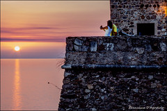 Together at sunset (Francesca D'Agostino) Tags: tramonto sunset pizzocalabro vv calabria castellodimurat