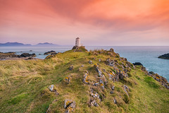 Orange Skies (Lee~Harris) Tags: sunset sunsets landscape mountain mountains outdoor wales sea seascape coast rugged rock formation scenic scenery sky uk coastal