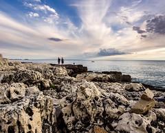 Stony beach (TomasCP82) Tags: stones beach see bale istria croatia adria sky clouds olympus omd