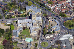 Norwich's Roman Catholic Cathedral - St John The Baptist (John D F) Tags: norwich cathedral romancatholic aerial aerialphotography aerialimage aerialphotograph aerialimagesuk aerialview norfolk eastanglia grapeshillroundabout