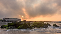 Sunrise at Ocean City, NJ (Geoff Livingston) Tags: sunrise beach ocean morning surf jetty rocks boardwalk newjersey atlantic seascape water
