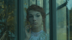 Greenhouse Daughters - 3 (Miriam Valle) Tags: girl greenhouse glass crystal chica woman beauty beautiful house victorian redhead fineartphotography cinematographic