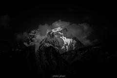 Farandole de Nuages  la Grande Casse (Frdric Fossard) Tags: nature monochrome montagne alpes noiretblanc lumire glacier sombre savoie nuage paysage ambiance clart sommet pralognan vanoise grandecasse fondnoir dramatique atmosphre luminosit