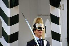 je crois bien que ce garde est une dame ? (marycesyl,) Tags: de du palais garde lisbonne belhem prsidentiel