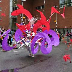 Flower Girl (lady.bracknell) Tags: brouhaha2016brouhahainternationalcarnival streettheatre costume parade