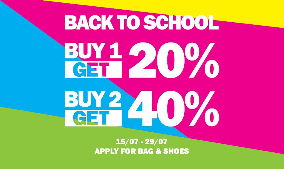 HÃY SÀNH ĐIỆU TRONG NGÀY BACK TO SCHOOL – OFFER 40%