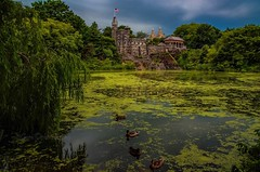 Belvedere Castle in Central Park in Manhattan New York City. (mitzgami) Tags: landmark nyc turtlepond summer nature flickr nikonphotography nikon landscape landscapes newyorkcity manhattan centralpark belvederecastle