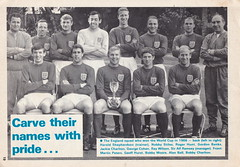 """Coventry City """"Sky Blues"""" vs England 1966 World Cup XI - Bill Glazier Testimonial - 1974 - Page 19 (The Sky Strikers) Tags: coventry city sky blues england 1966 world cup xi bill glazier testimonial our official souvenir programme highfield road 10p"""