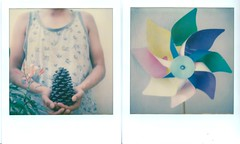 summer (marion (milky soldier)) Tags: film sx70 diptych colours ishootfilm instant impossible instantfilm poladiptych impossibleproject impossiblefilm