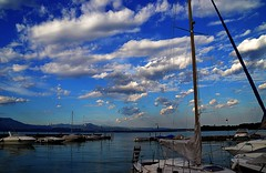 6542 (roxyhopelust) Tags: flowers sunset summer sky italy cloud lake plant tree nature colors landscape photography pier boat photo ship place photos pic lagodigarda
